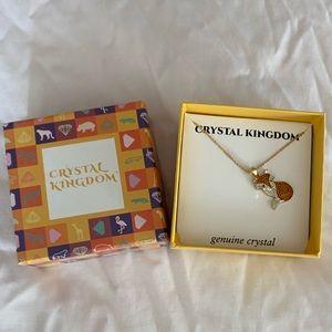 Crystal fox necklace